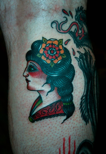 Dragon tattoo copper beehive tattooing by bailey for Williamsburg tattoo shops